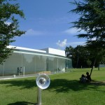まるいので有名な金沢21世紀美術館。