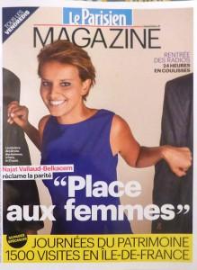 『Le Parisien ル・パリジャン』紙をこうたらついてきた別冊。表紙の人は、Najat Vallaud-Belkacem ナジャット・ヴァロー=ベルカセム