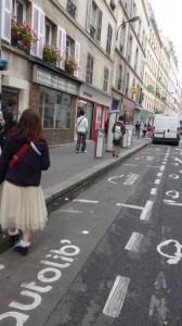 貸し自転車 velib' の自動車版 autolib' の基地。全車ではらひ中。