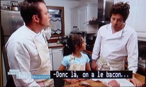 こちらは昼間M6でやってた Norbert et Jean, le défi (ノルベールとジャン、挑戦)。ふたりのシェフが視聴者からの「挑戦」にいどむハナシ。今回は、15歳、13歳、10歳の兄妹からの「朝ごはんを食べない両親に、すごい朝ごはんを食べさせたい。でも、わたしたちは、料理がまったくできない」てふもの。ちょっと探偵ナイトスクープ風で、ラストもそれ的感動。
